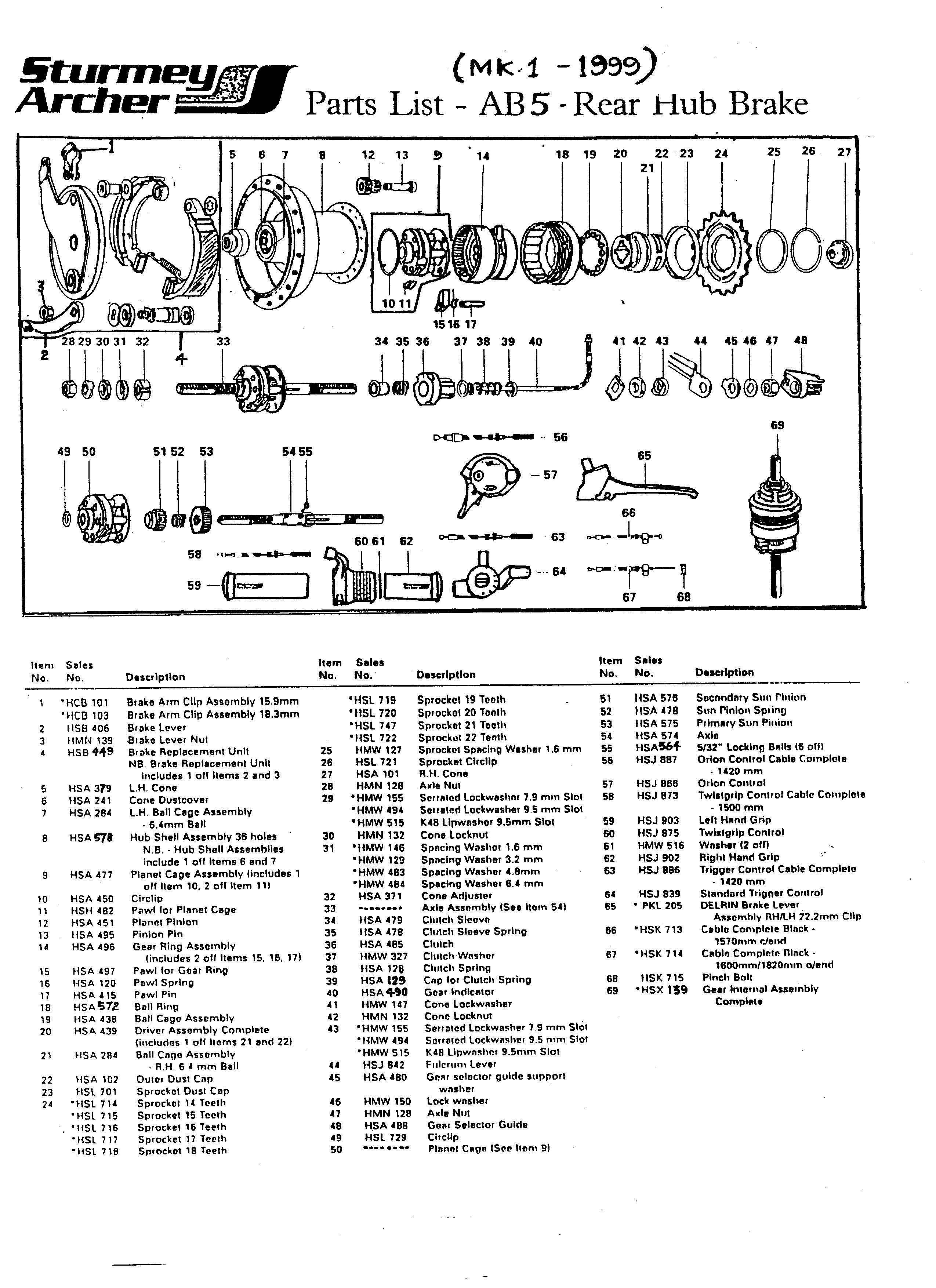 Sturmey Archer Indicator Chain 3-speed Hub  bicycle 135mm.181844