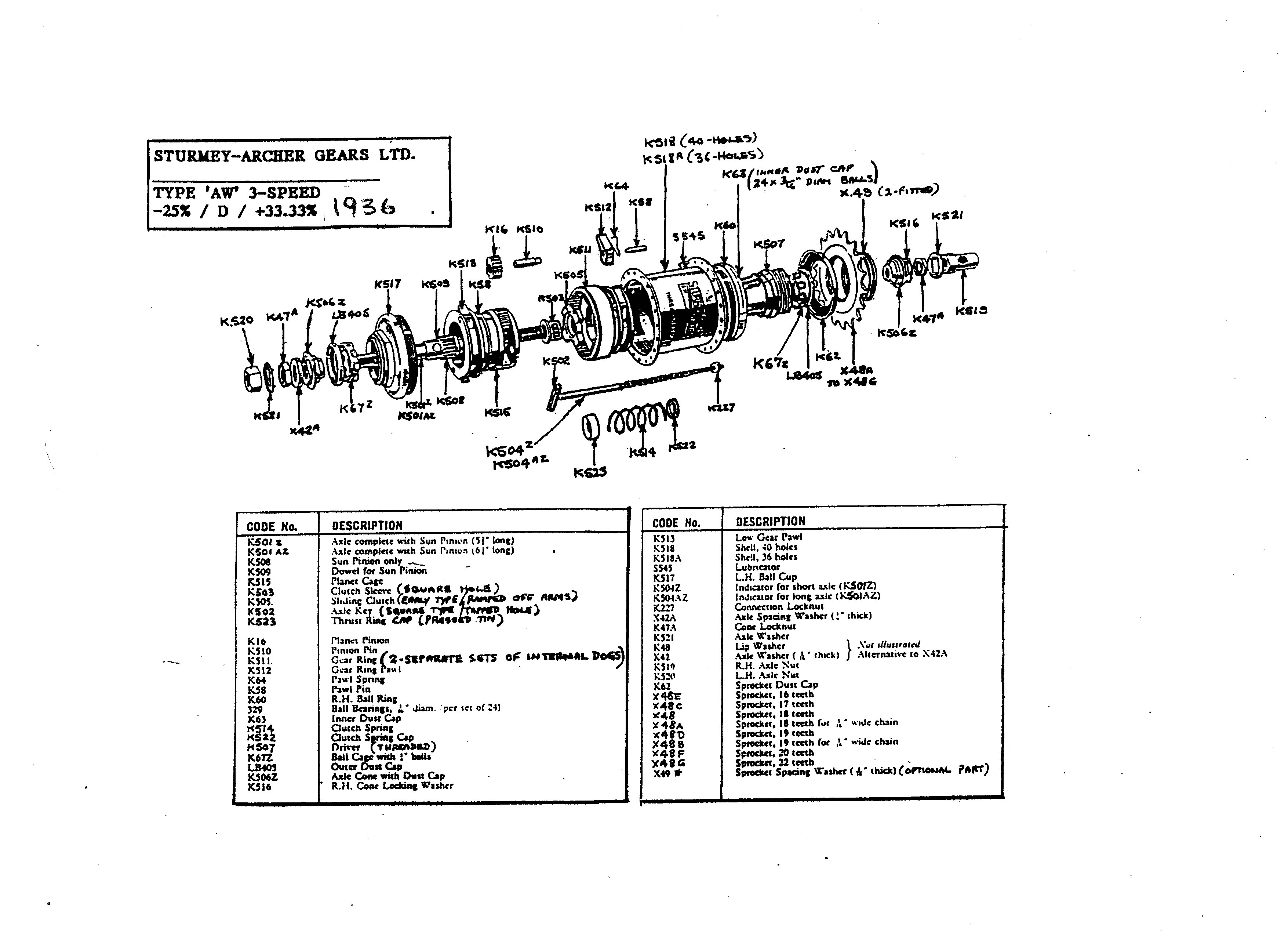 Servicing Sturmey Archer 3 Speed Hubs Exploded Diagram Of Drum Brake Parts List And Drawing