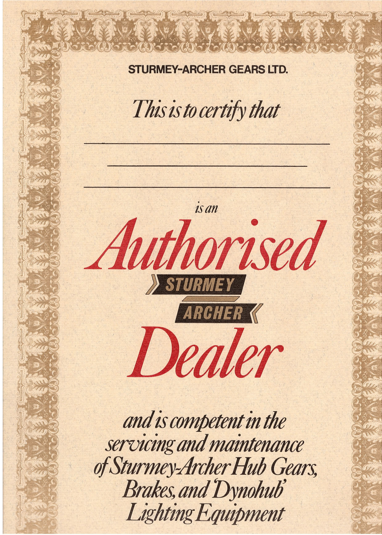 Authorized Dealer Certificate Sample Image Gallery Hcpr